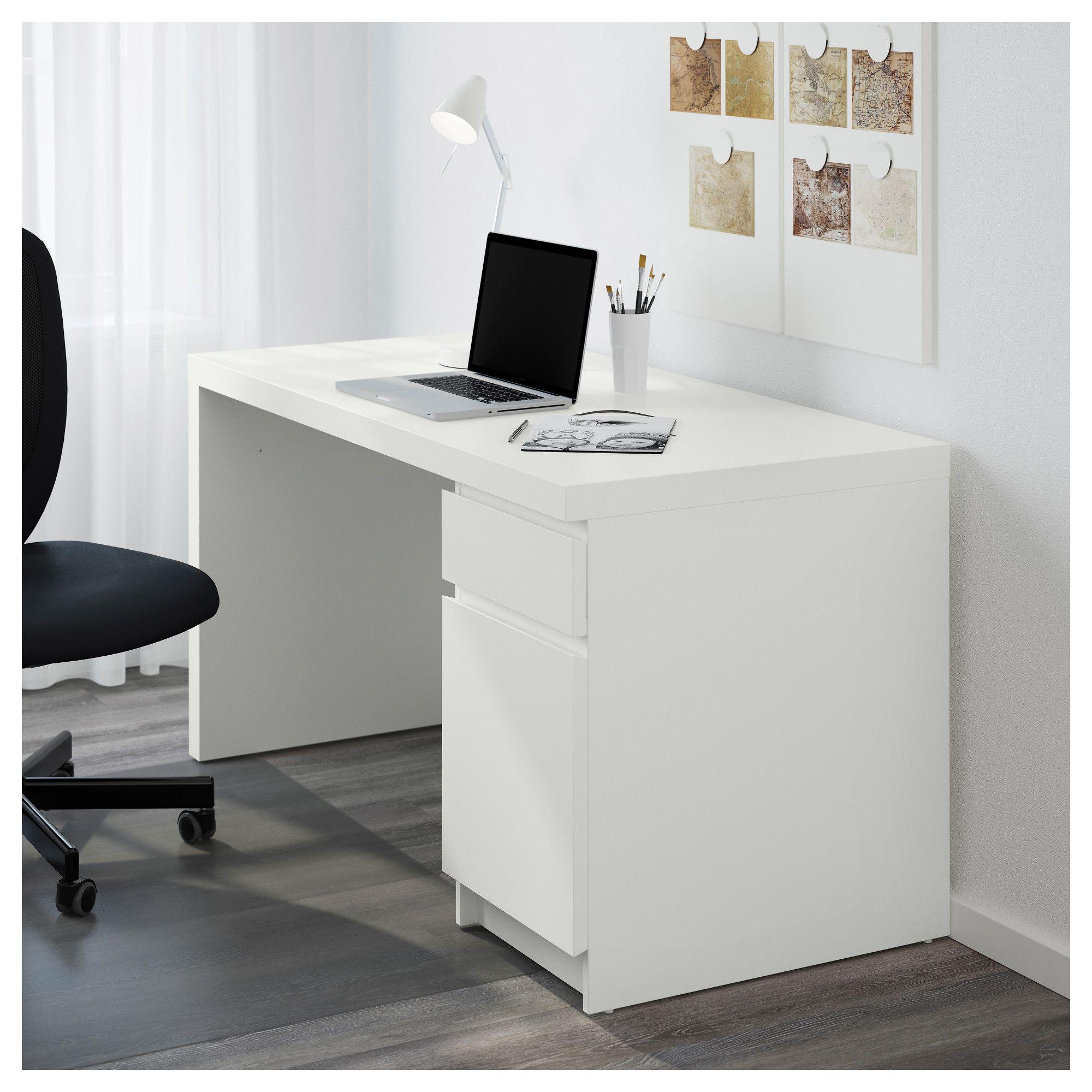 MALM Desk white in 2018  Products  Desk Ikea Malm