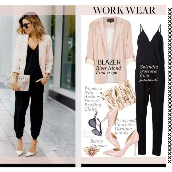 Work Staple Blazer Amp Jumpsuit Style By