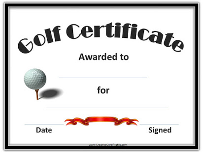Golf Certificate Templates For Word 1 Templates Example Templates Example Gift Certificate Template Certificate Templates Award Template