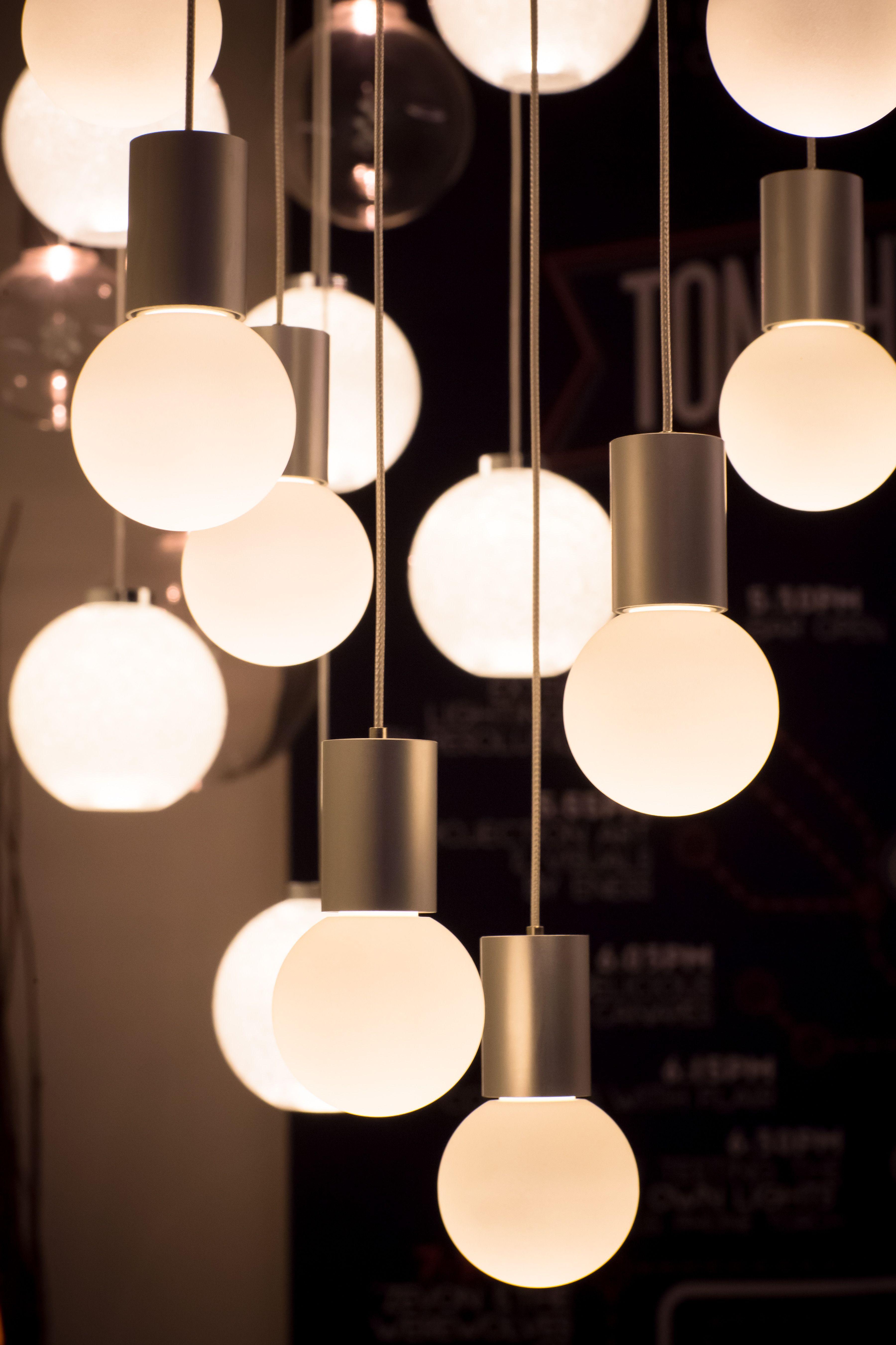 Darkon Lighting Wrecking Ball LED Pendant Acrylic Architectural Lights #darkonlighting #LED #lightart #lightingdesign