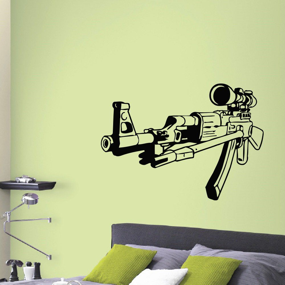 Amazing Gun Decoration Wall Ensign - Wall Art Collections ...