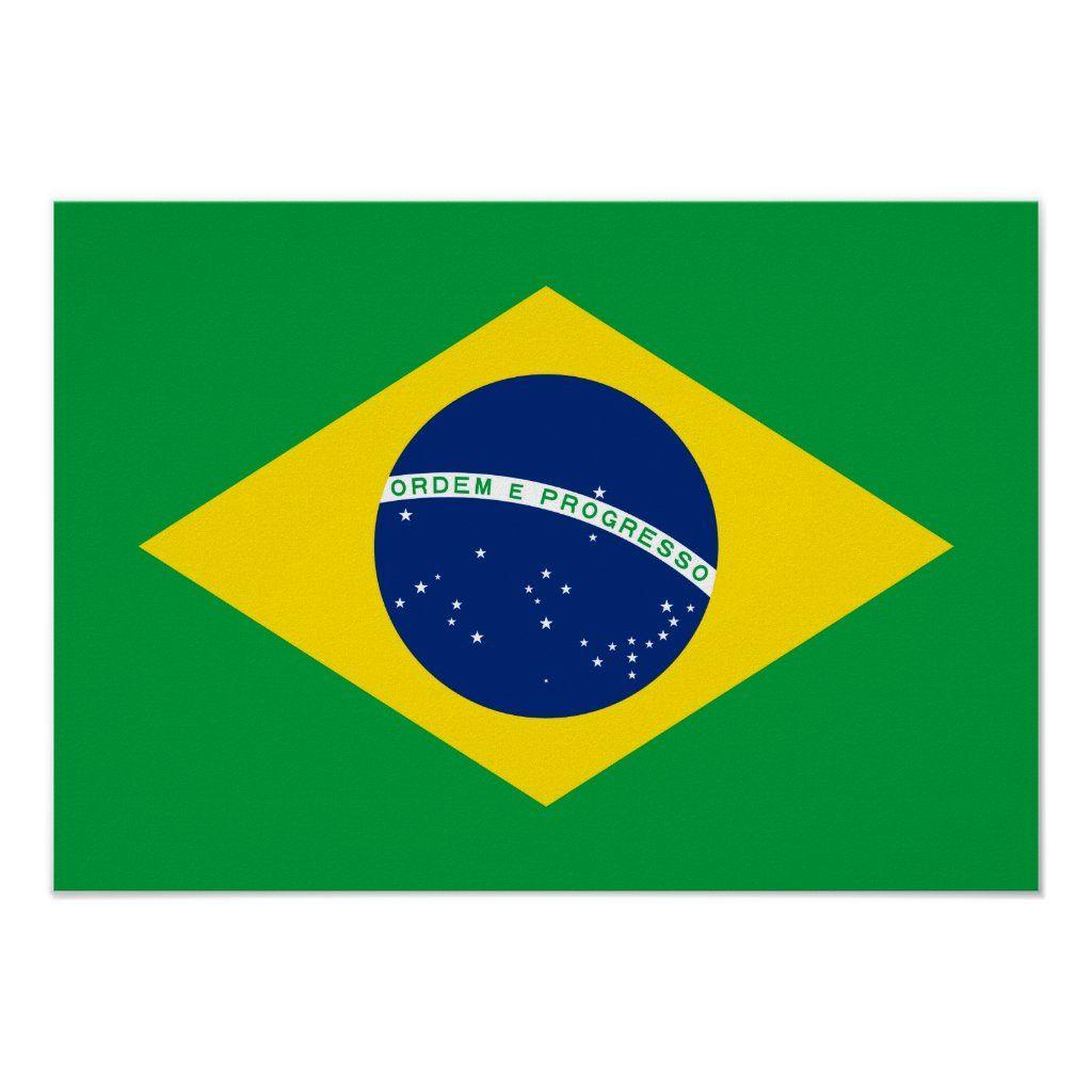 Brazil Brazilian National Flag Poster Zazzle Com Brazil Flag Flag Coloring Pages Brazilian Flag