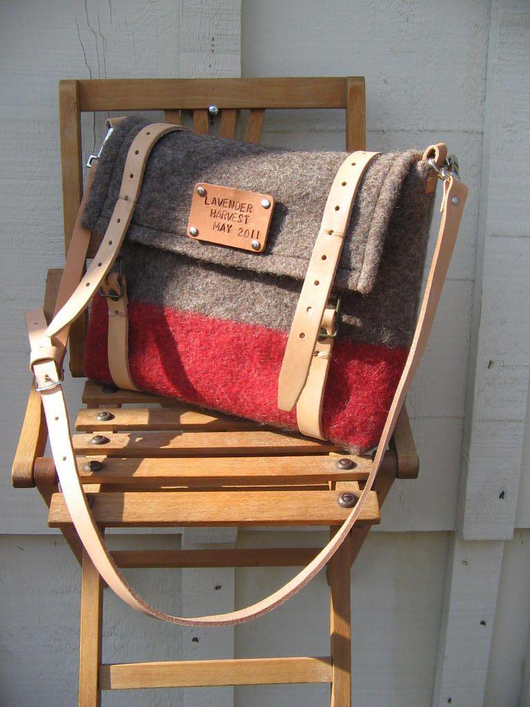 Swiss Army blanket bag. Unique iPad Messenger Bag/ Laptop Bag/ Travel  Bag/ Shoulder Bag.. $165.00, via Etsy.