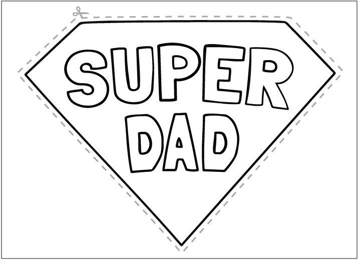 Free Super Dad Father's Day Printable (With images ...
