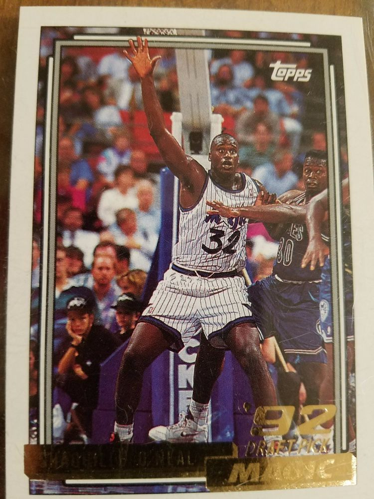 1992 topps shaquille oneal 362 basketball card