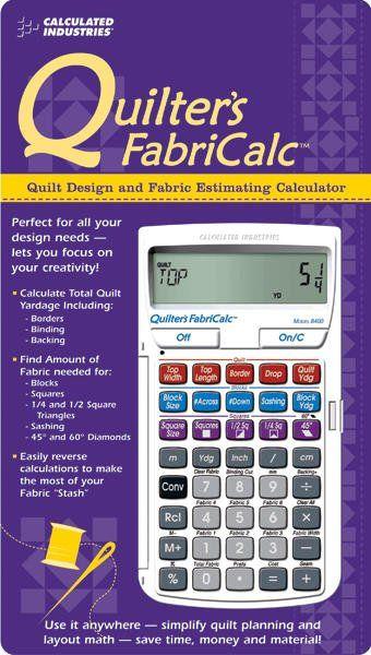Quilter's FabriCalc Design & Fabric Estimating Calculator   Quilt ... : quilt fabric calculator - Adamdwight.com