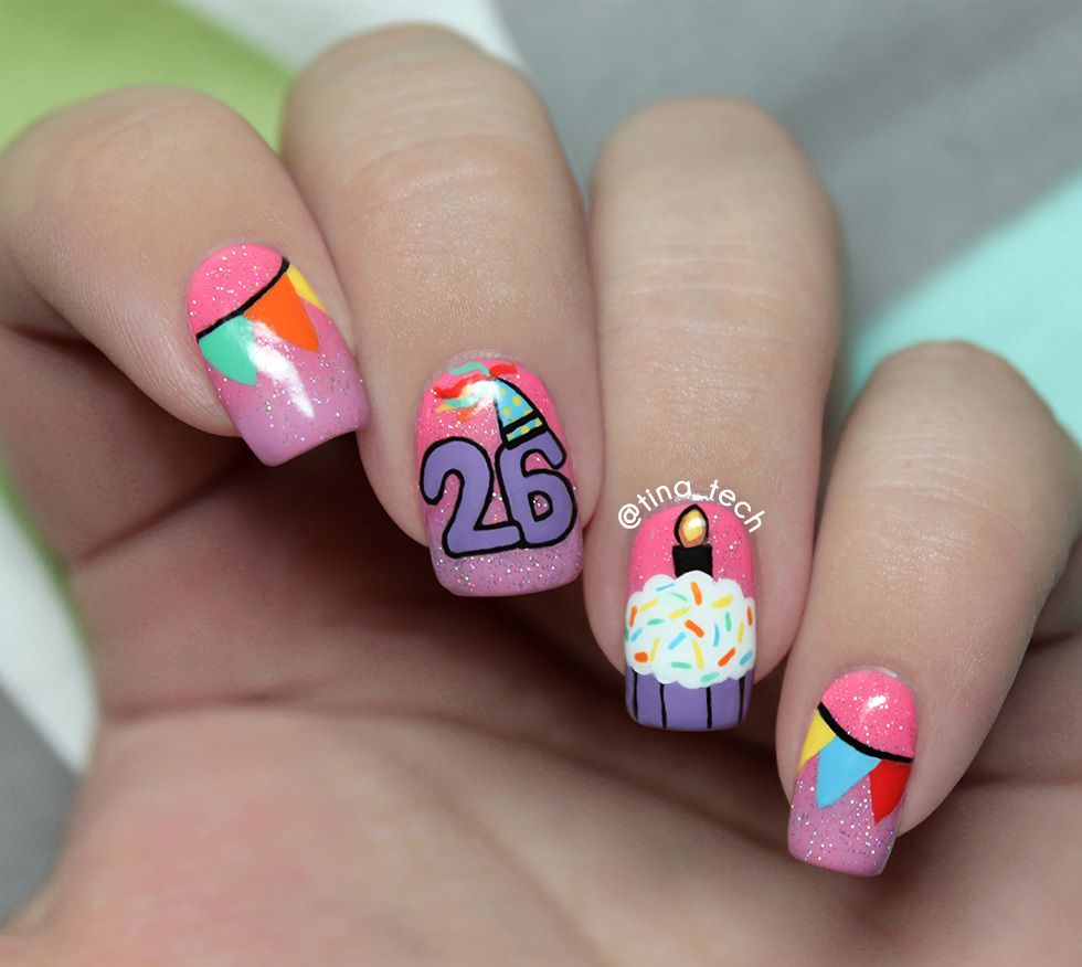 60 Birthday Nail Designs For Woman In 2019 Page 33 Of 60