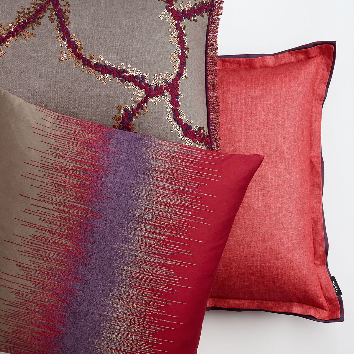 Sahco home collection cushions red sahco pinterest