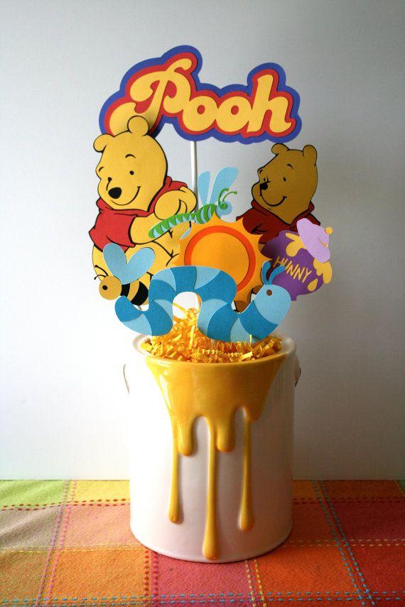 Winnie the Pooh centerpiecebouquet perfect by HandmadecardsbyHJM