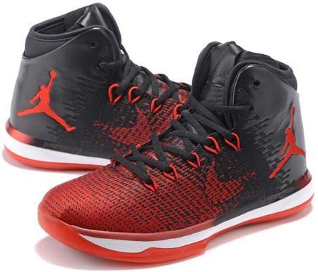 Men Jordan 31 Red Black White Basketball Shoes