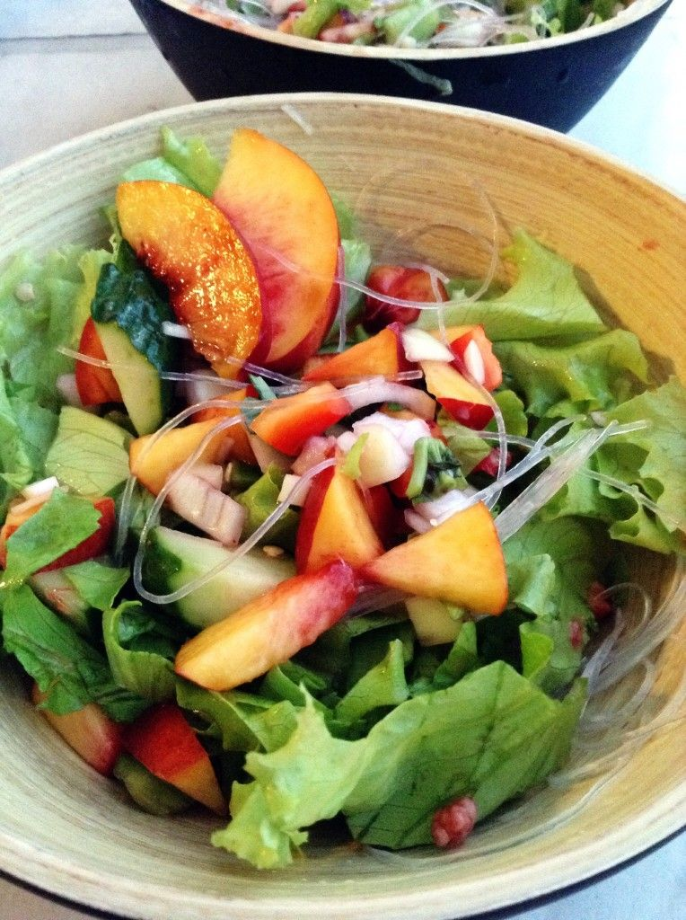 Sweet & Spicy Rice Noodle Salad - super healthy and easy ...