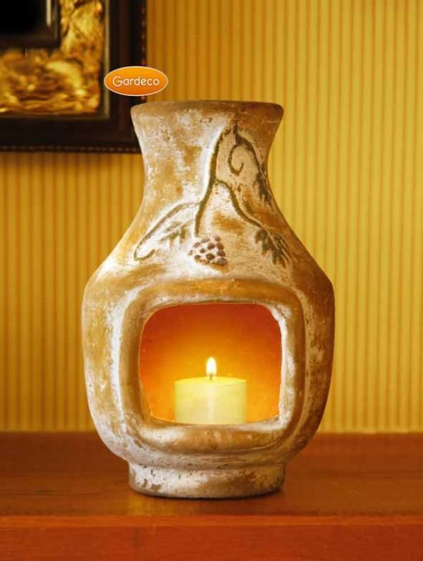 Awesome Grapes Hand Made Clay Candle Chiminea With Vanilla Scented Candle. Perfect  Small Chimenea To Brighten