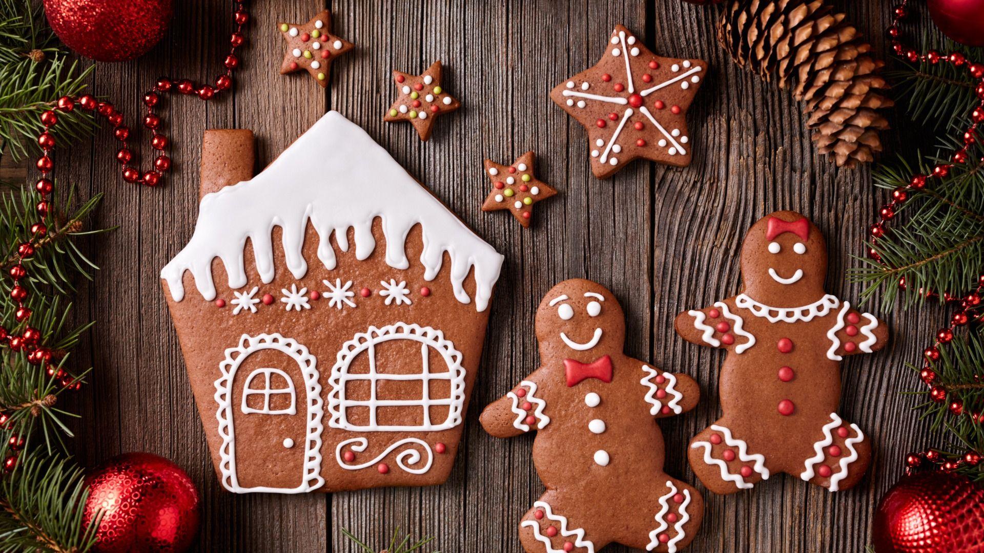 Download Wallpaper New Year, cookies, Christmas, Christmas