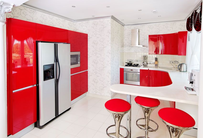 27 Red Kitchen Ideas Cabinets Decor Pictures Kitchen Cabinet Styles Stylish Kitchen Design Kitchen Design Styles