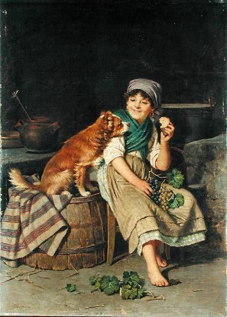 Federico Mazzotta-Girl with Dog