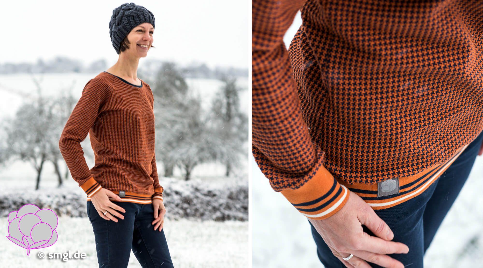 Jahresrückblick: Tweed Knit von Albstoffe - Selbermachen macht glücklich: DIY, Biostoffe, Bionähen