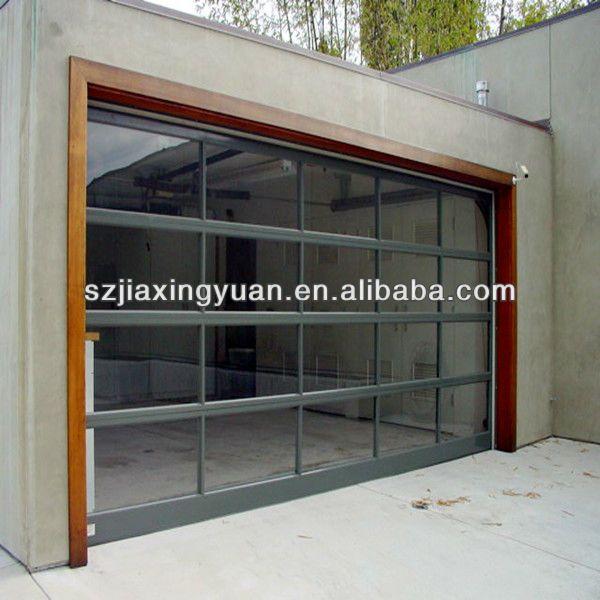 Vista garage doors plena vista de vidrio transparente de - Puertas para cocheras electricas ...