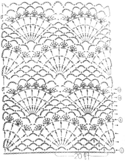 Punto Abanico Tejido a Crochet   patrones en 2018   Pinterest ...