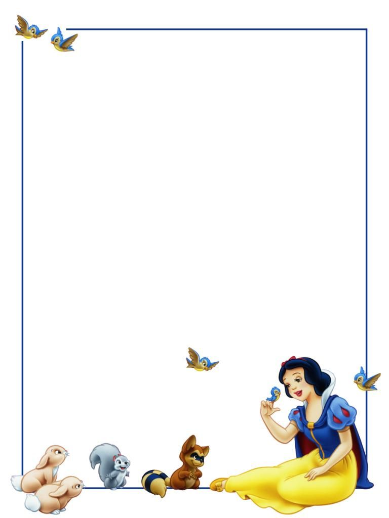 Briefpapier Sneeuwwitje Borders And Frames Snow White
