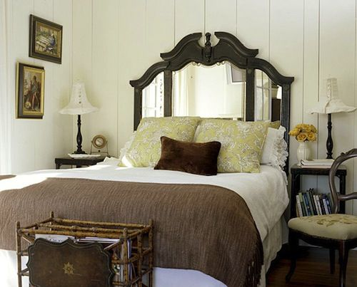 A Dresser Mirror Repurposed As A Headboard  PERFECT. I Love Mirrors Behind  Beds, Especially In My Well Lit Room. But This Idea Adds A Headboard ...