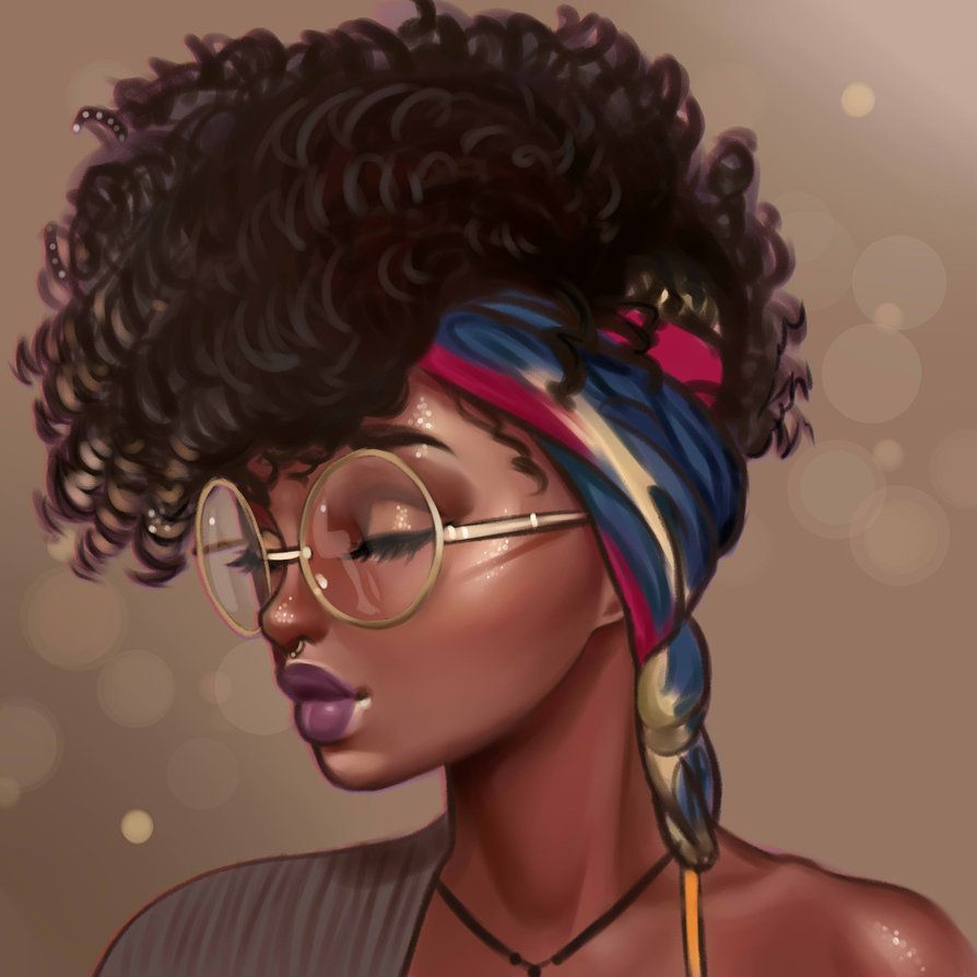 Pin de abbey johnson em artist black women art black - Female cartoon characters wallpapers ...