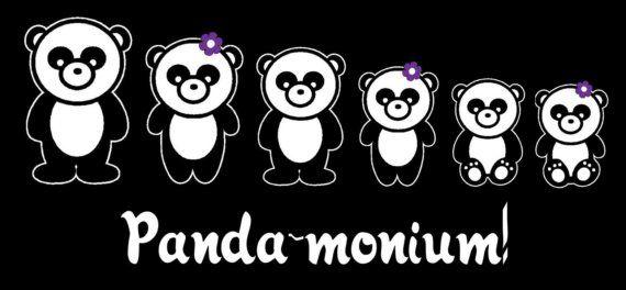 Panda Bear Family Car Decal Sticker Custom by StickersByDesign, $10.99