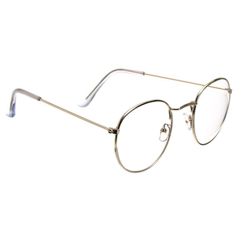 Retro vendimia Gafas de oro transparentes ovales Patas de acero de ...