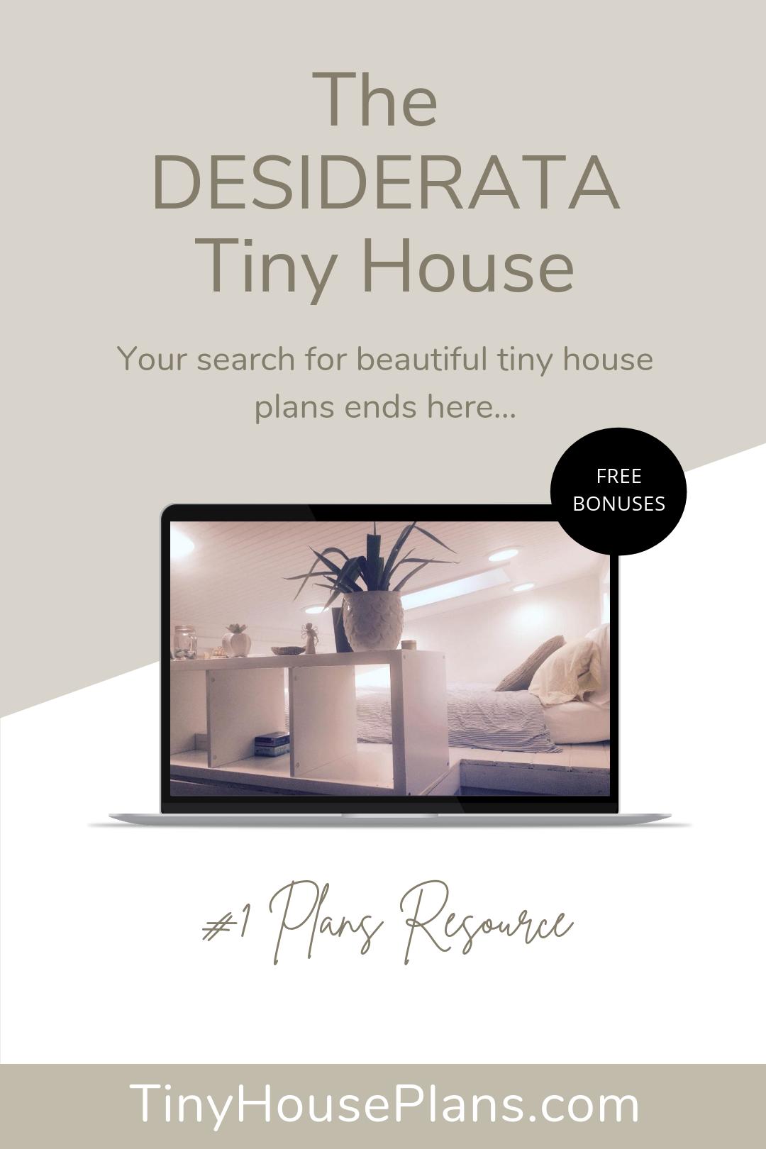 Desiderata Tiny House 32 x 8 Gooseneck Tiny House Plans