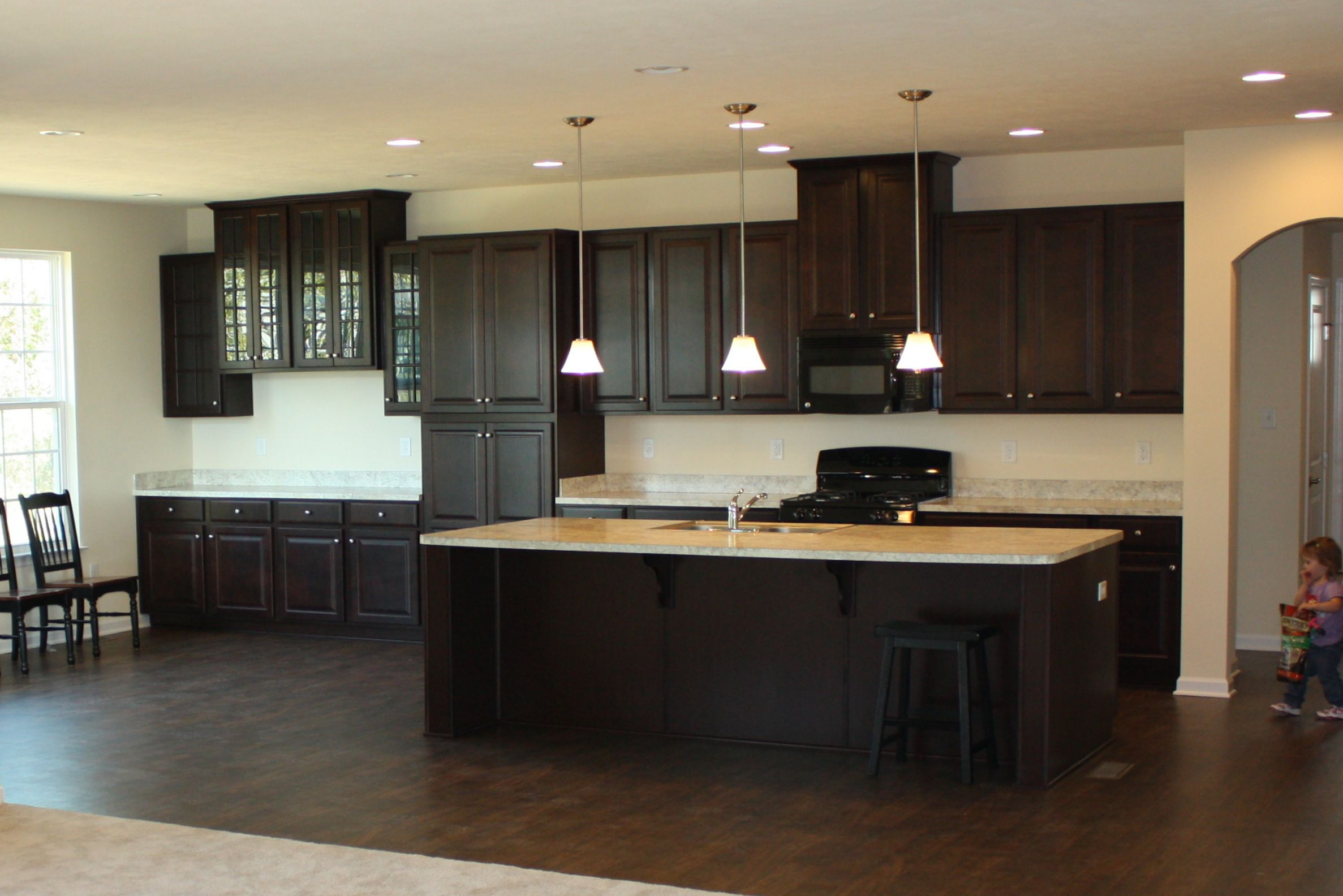 Kitchen Wyoming Cherry Java Cabinets Kitchen Interior Home Renovation Kitchen Layout