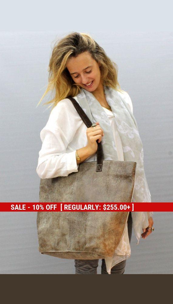 Sale Large leather bag Leather purse Handmade by LimorGalili