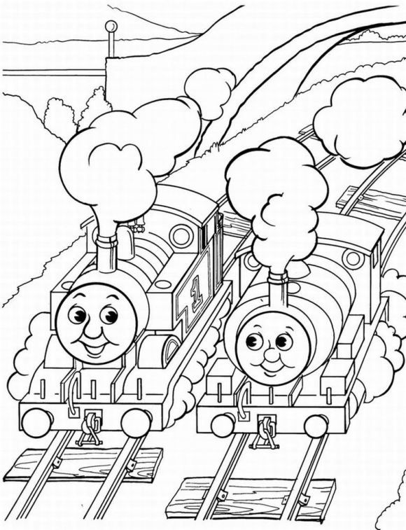 Printable Thomas The Train Coloring Pages Train Coloring Pages Coloring Pages For Kids Cool Coloring Pages