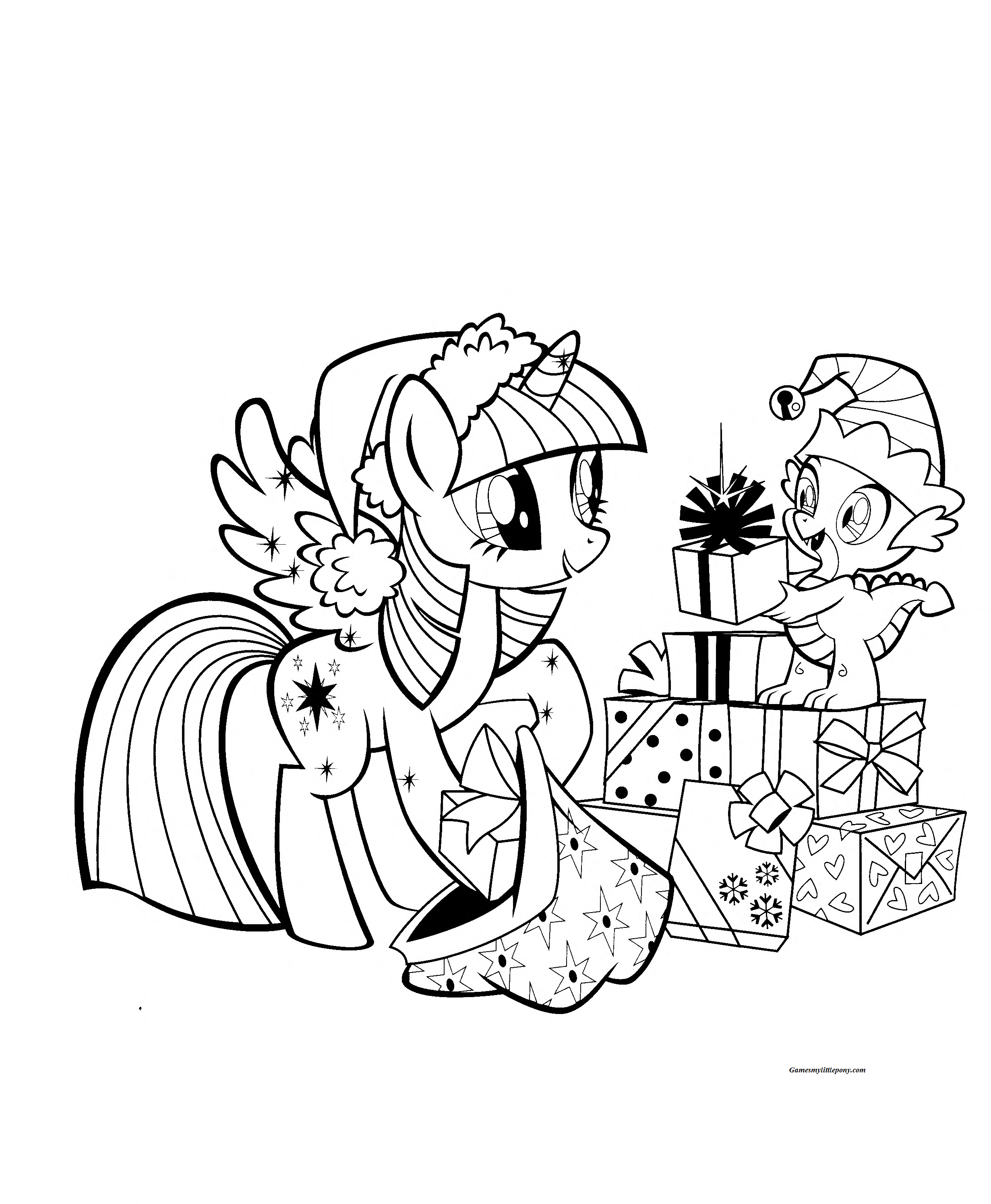 Twilight Sparkle Christmas My Little Pony Coloring Horse Coloring Pages My Little Pony Movie