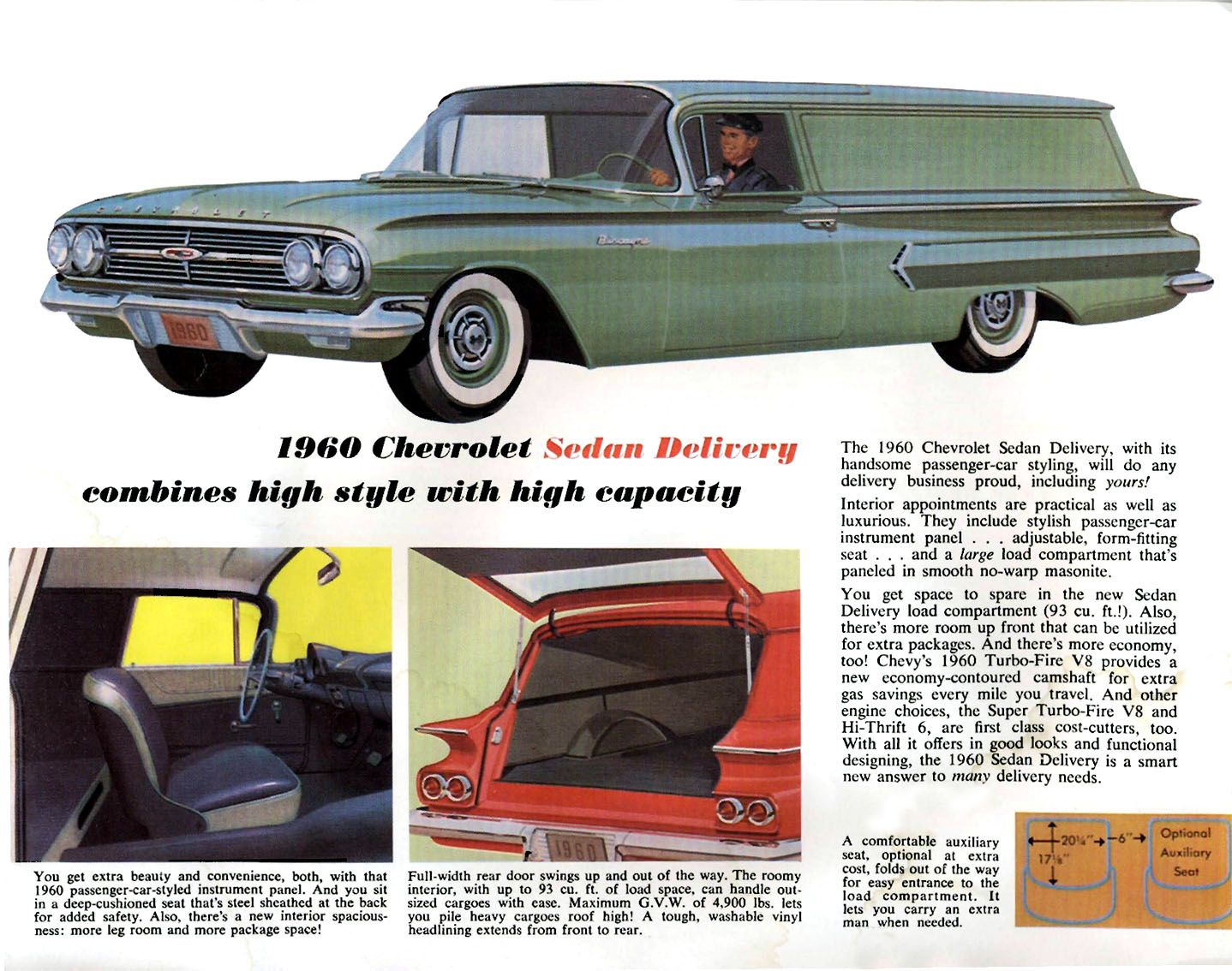 1960 Chevrolet El Camino And Sedan Delivery Brochure Chevrolet Sedan Automobile Advertising Vintage Truck