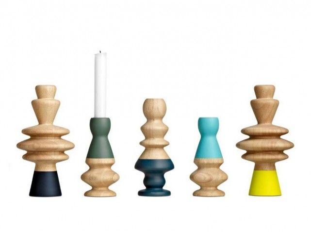 bougeoir bois colore boconcept kandelaars pinterest bougeoirs bois et maison no l. Black Bedroom Furniture Sets. Home Design Ideas