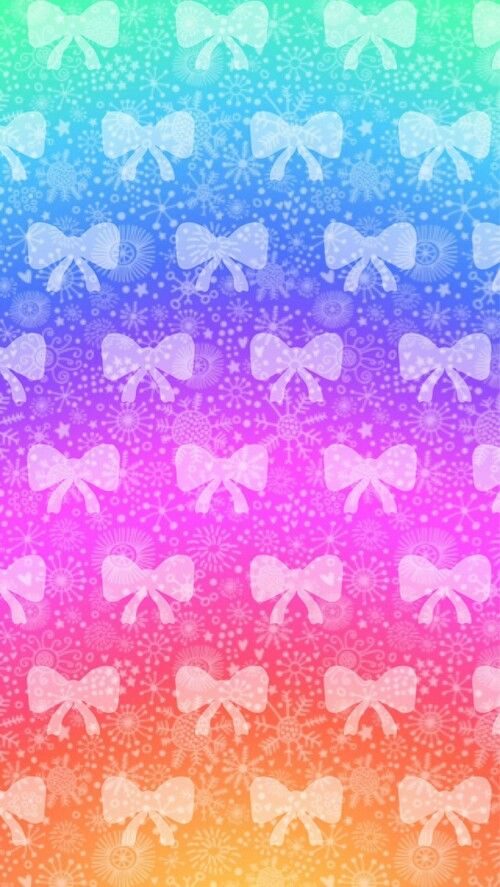Bow Wallpapers Colorful Rain Bows Bow Wallpaper Rainbow Wallpaper Pink Nation Wallpaper