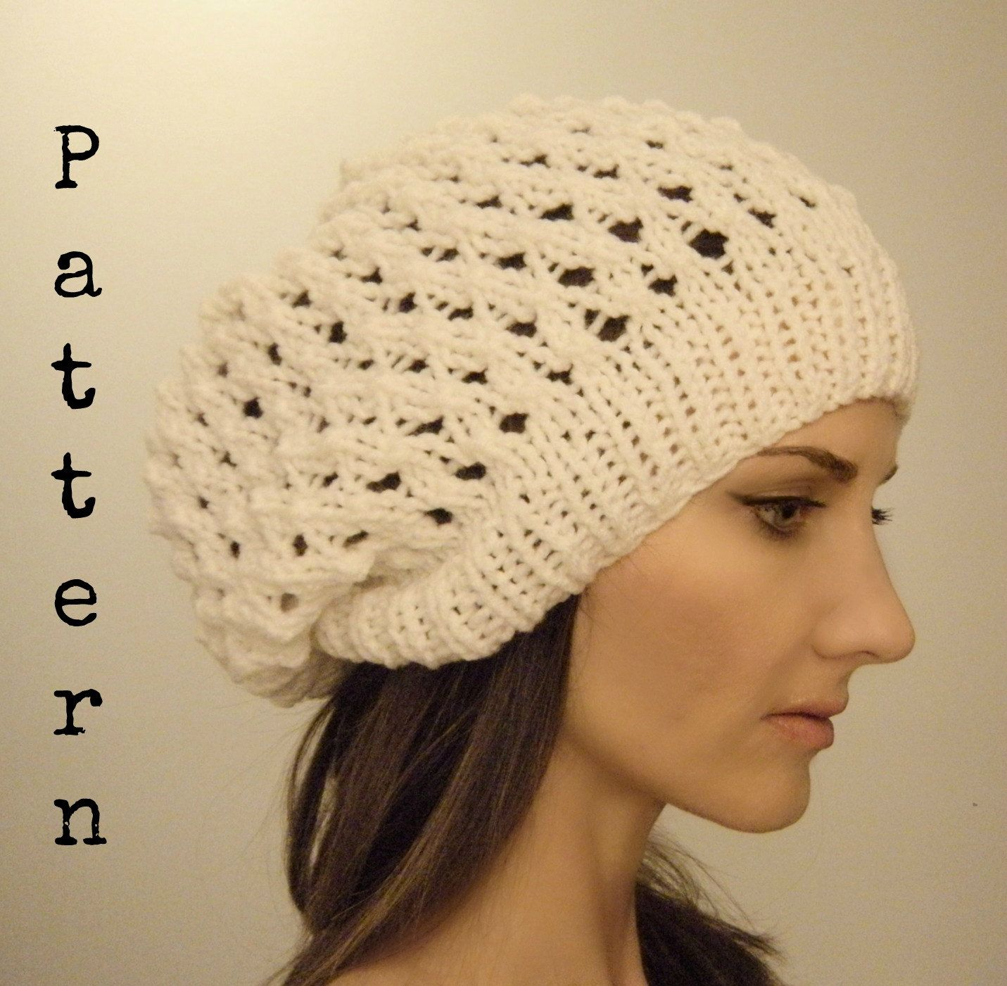 bb015393b25 Slouch hat PATTERN Lake Effect beanie beret by KittyDune on Etsy