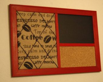 Lovely French Memo Board, Wine Cork Board U0026 Chalkboard Kitchen Wall Organizer