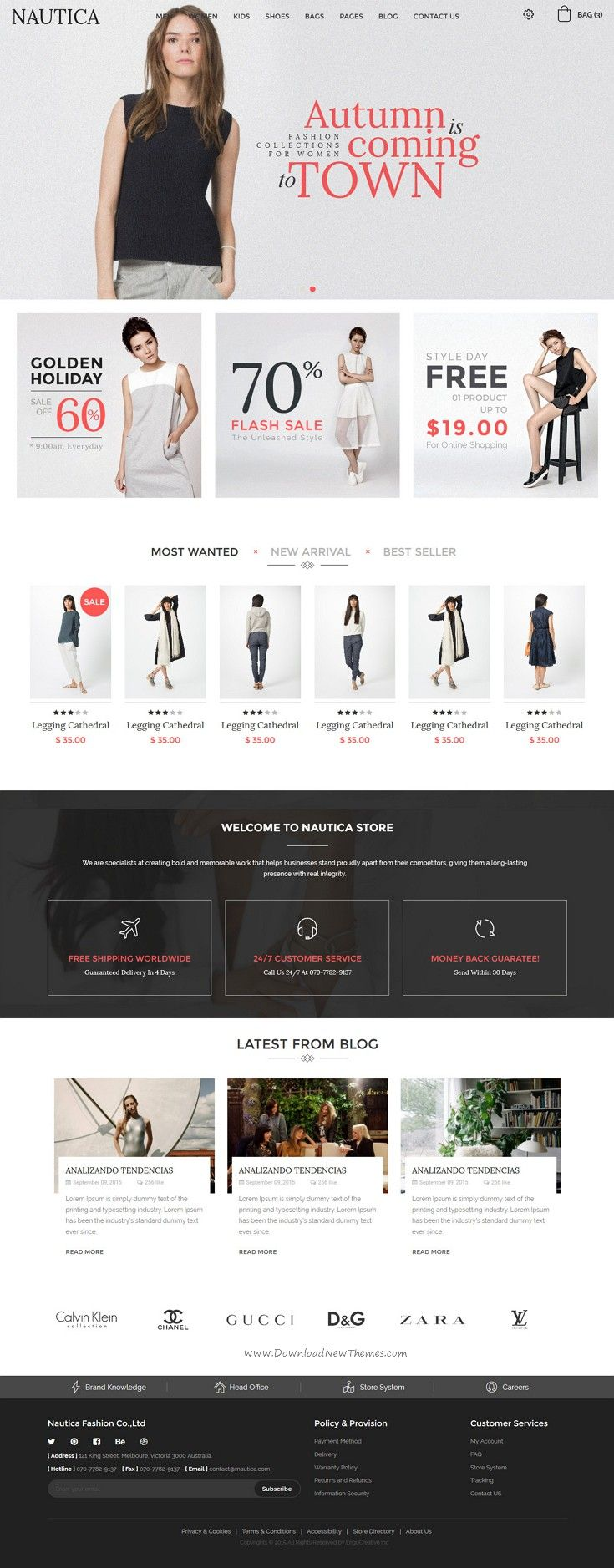 Nautica - Responsive HTML Template | Template, eCommerce and Website