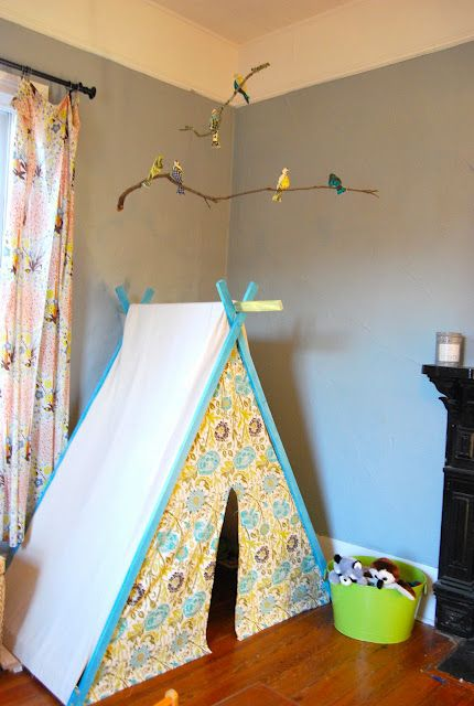 Another bird mobile. And love the play tent & Another bird mobile. And love the play tent | Kids | Pinterest ...