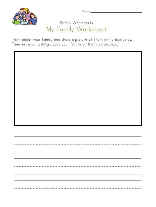 family worksheet NEW 127 MY FAMILY ACTIVITIES WORKSHEETS – Family Worksheet