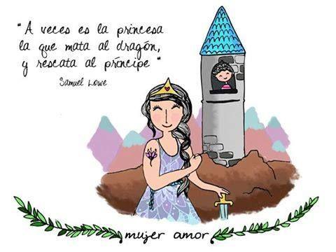 A Veces Es La Princesa La Que Mata Al Dragon Y Rescata Al Principe Dragones Ilustraciones Princesas