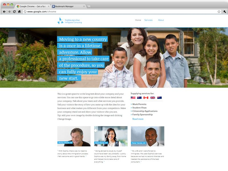 Immigration Consultant | Wix Website Templates | Pinterest ...