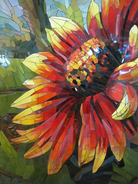 mosa que tournesols sunflowers pinterest mosaique. Black Bedroom Furniture Sets. Home Design Ideas