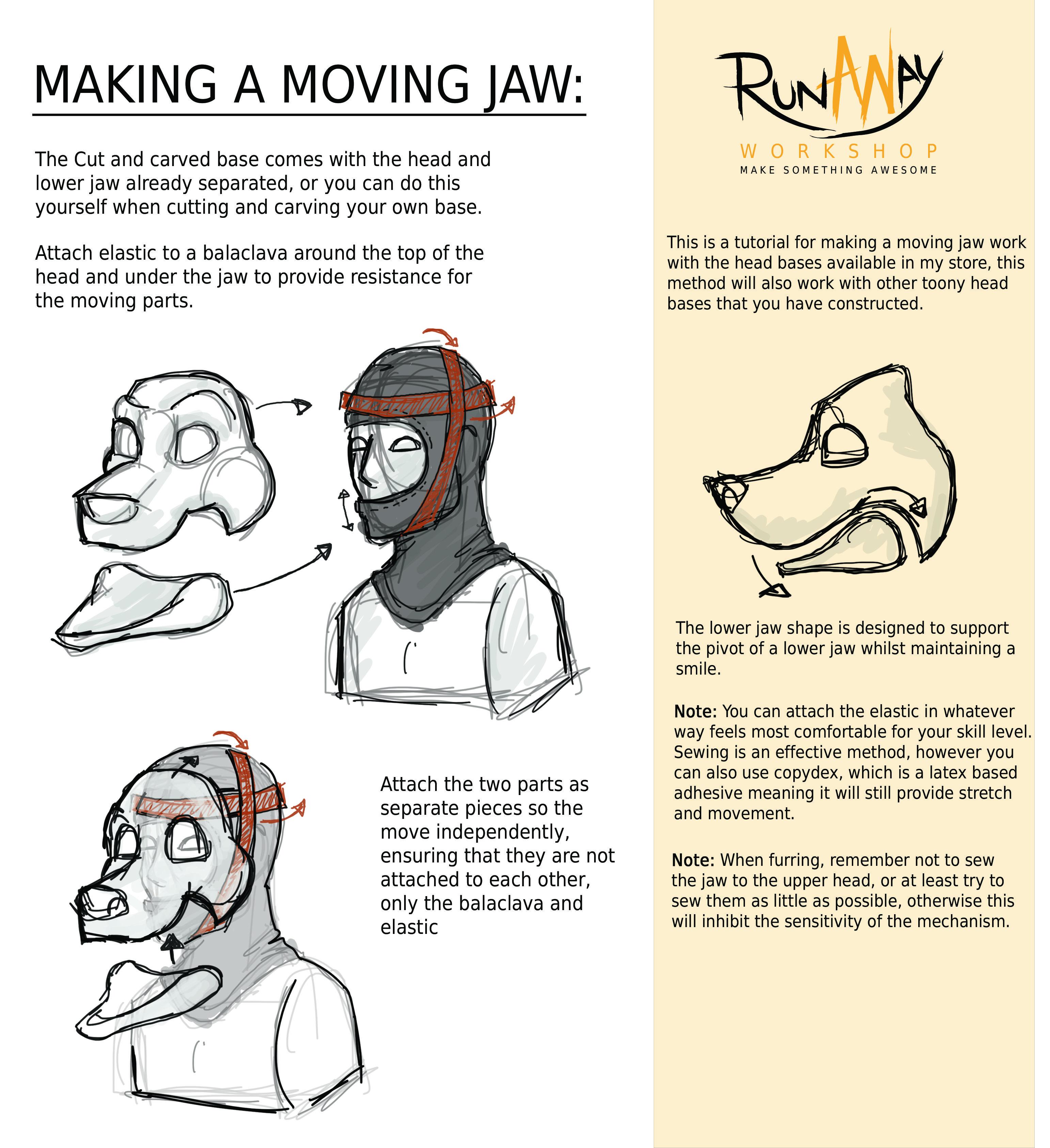 Moving Jaw Jpg 3084 3373 Fursuit Fursuit Tutorial Furry Design