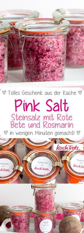 Photo of Pink Salt | Beetroot Rosemary Rock Salt – KochTrotz | creative recipes