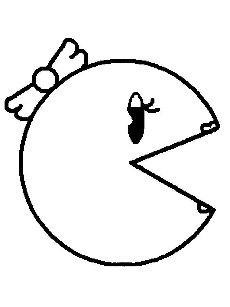 Pacman Coloring Pages 027 The Following Is Our Collection Of Easy Pacman Coloring Page You Are Free In 2020 Coloring Pages Online Coloring Pages Cool Coloring Pages