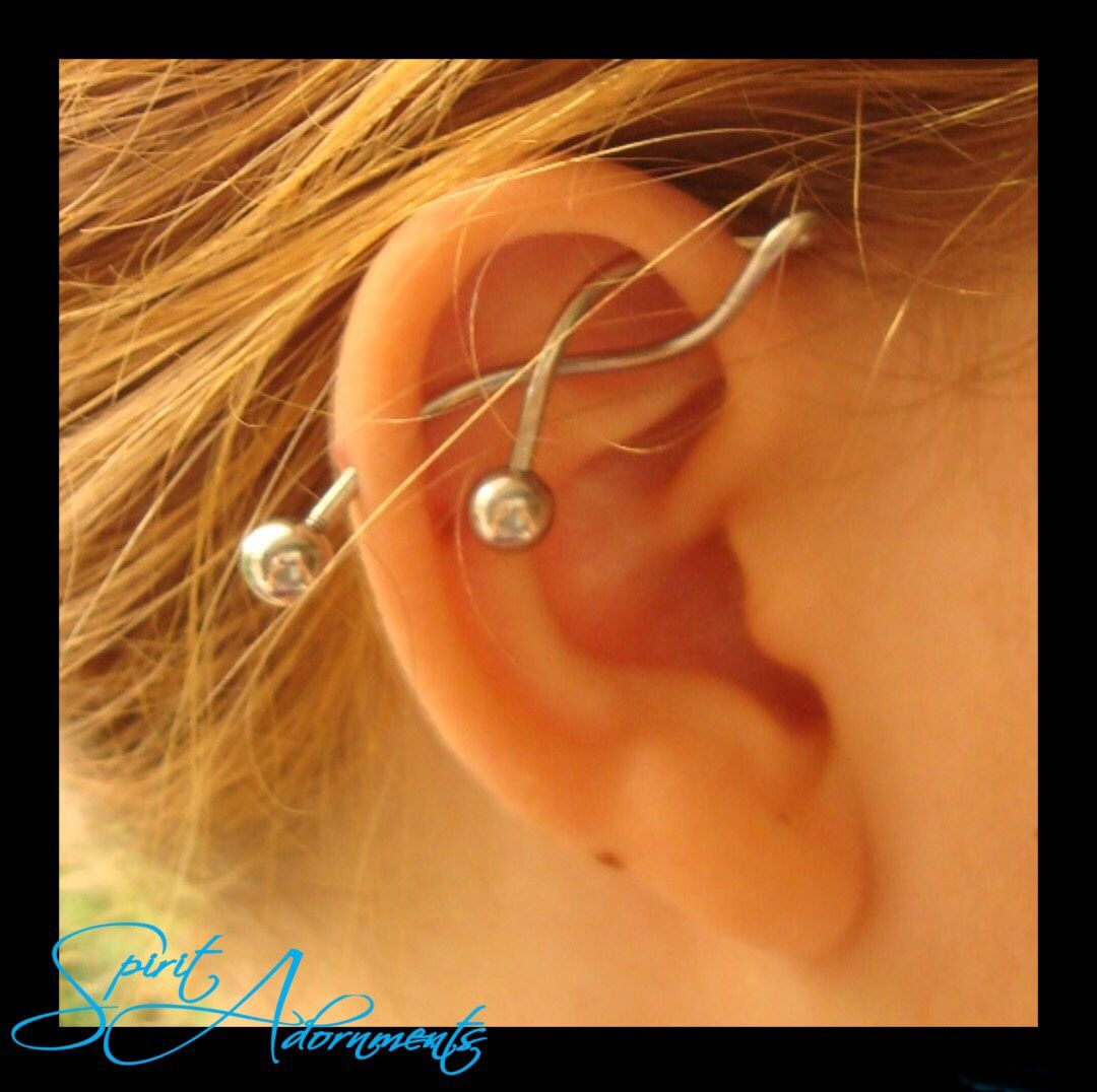 Twisty Industrial Barbell We Think Yes Check Out