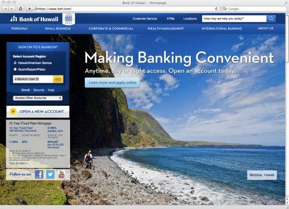 bank of hawaii website