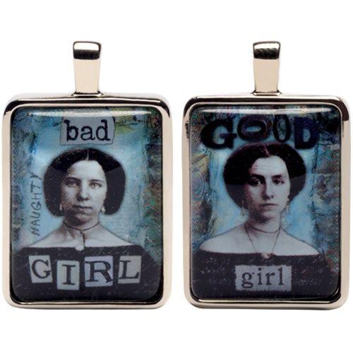Good Girl Bad Girl Charm Pendant