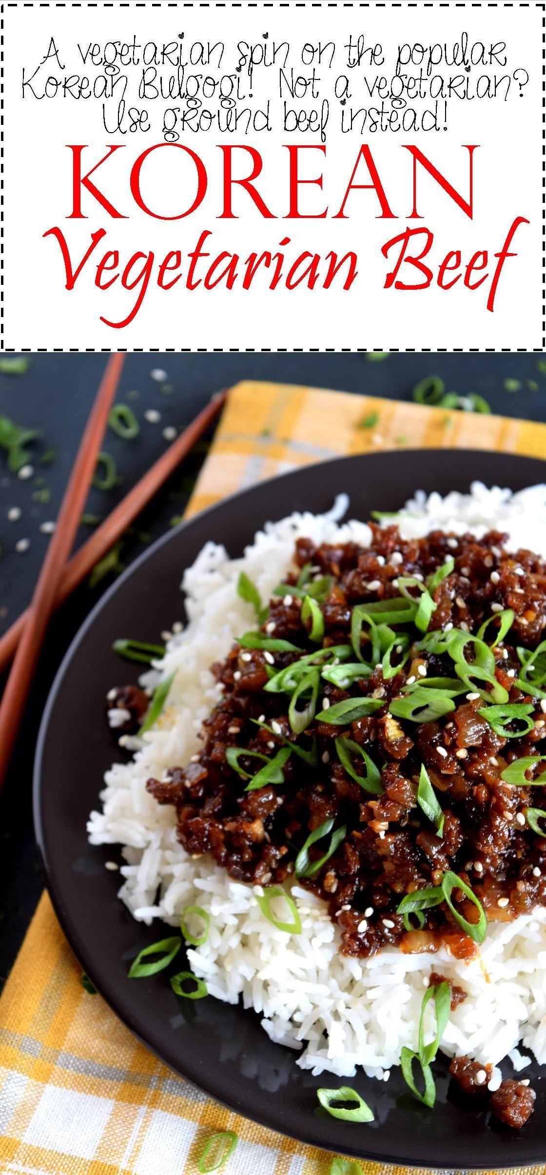 Korean Vegetarian Beef Lord Byrons Kitchen Mangia